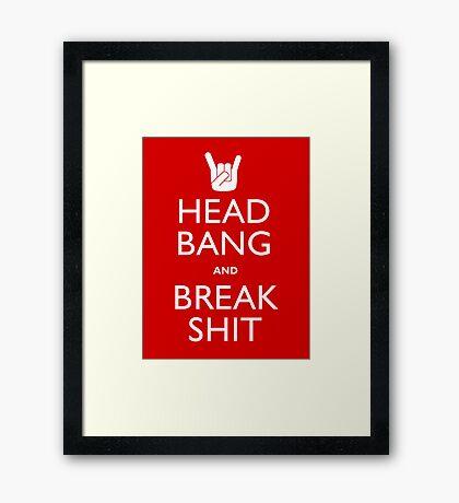Head Bang Framed Print