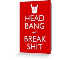 Head Bang Greeting Card