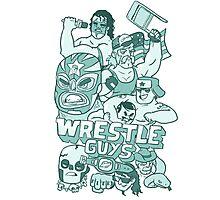 Wrestle Guys Photographic Print