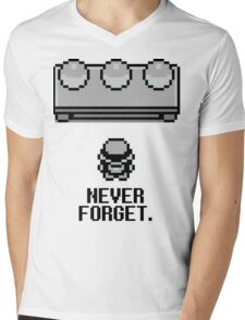 Never Forget Mens V-Neck T-Shirt