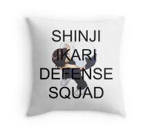 Protect Shinji Ikari - Black Text Throw Pillow