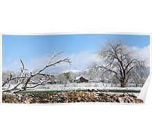 Spring snowstorm in the mountains Poster