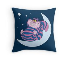 Cheshire Psychedelic Cat - We're All Mad Here Throw Pillow