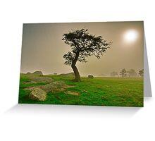 """Dawn Shroud At The Rocks"" Greeting Card"