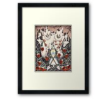 Alice and the Royal Guards Framed Print