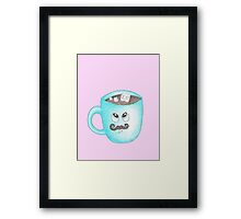 Candy Land Project - #5 Hot Chocolate with mustache Framed Print