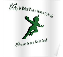 Why is Peter Pan always flying? Poster