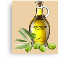 Extroversion Olive Oil Canvas Print
