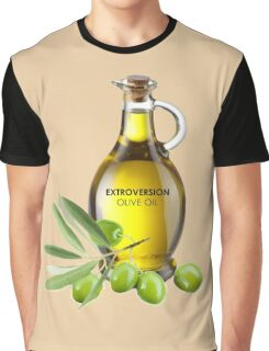 Extroversion Olive Oil Graphic T-Shirt
