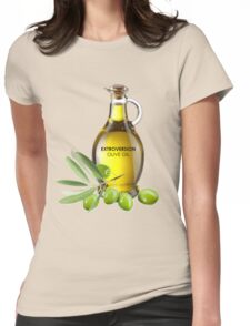 Extroversion Olive Oil Womens Fitted T-Shirt