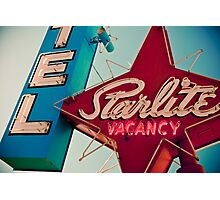 Vintage Las Vegas Starlite Motel Sign Photographic Print