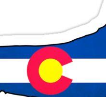 Colorado flag dachshund wiener dog Sticker