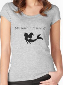 Mermaid in Training Women's Fitted Scoop T-Shirt