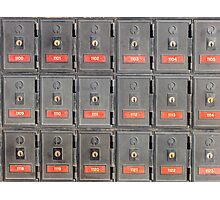 Australian post office boxes Photographic Print