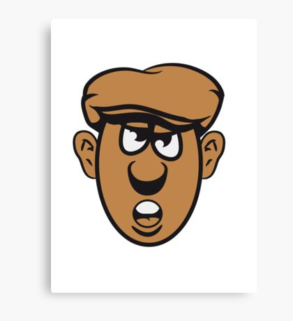 Face Cap evil Canvas Print
