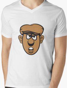 Face Cap evil Mens V-Neck T-Shirt