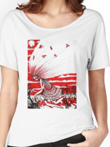 the bird gatherer (red ink) Women's Relaxed Fit T-Shirt