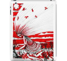 the bird gatherer (red ink) iPad Case/Skin