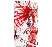 the tree gardener (red ink) iPhone Case/Skin