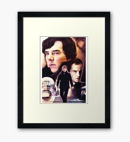 Sherlock - The Game Framed Print