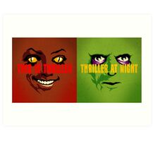 Thriller at Night | Double Feature Art Print