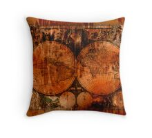 Vintage Old World Map Throw Pillow Throw Pillow