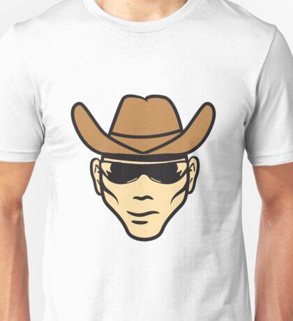 Face Hat cowboy sunglasses Unisex T-Shirt