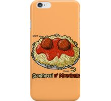 Maze Shirts: Spaghetti 'n Meatballs! iPhone Case/Skin