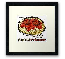 Maze Shirts: Spaghetti 'n Meatballs! Framed Print