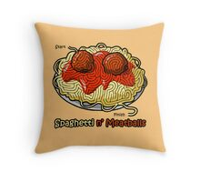 Maze Shirts: Spaghetti 'n Meatballs! Throw Pillow