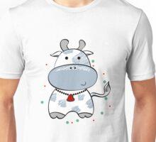 cartoon cow & flowers 2  Unisex T-Shirt