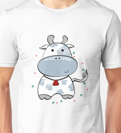 cartoon cow & flowers 2  Unisex T-Shirt
