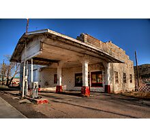 Abandoned Gas Station Photographic Print