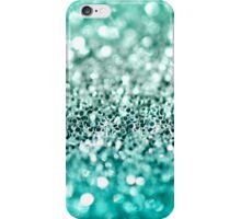 Aqua Glitter iPhone Case/Skin
