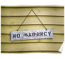 No Vacancy on Yellow Poster