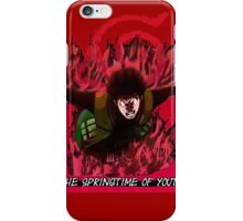 Might Gai - The Springtime of Youth! iPhone Case/Skin