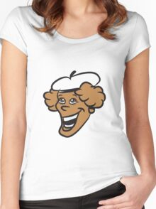 Face woman Hat Women's Fitted Scoop T-Shirt