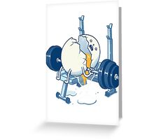 WEIGHT LIFTING ACCIDENT Greeting Card
