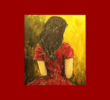 Girl in Red Dress by Caroline Martin