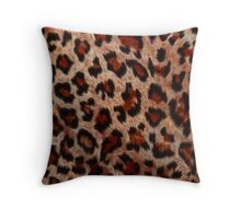 Leopard Spots Wild Cat Faux Fur Throw Pillow