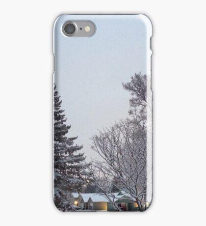 Winter Morning Snow Scene iPhone Case/Skin