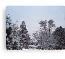 Winter Morning Snow Scene Canvas Print