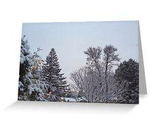 Winter Morning Snow Scene Greeting Card