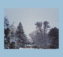 Winter Morning Snow Scene Kids Clothes