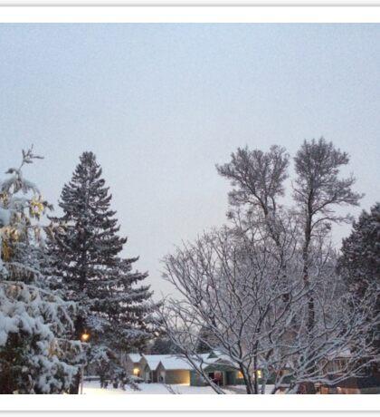 Winter Morning Snow Scene Sticker