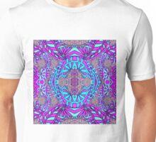 Blue and purple mandala collages Unisex T-Shirt
