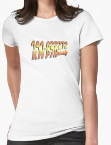 BTTF in Metric Womens Fitted T-Shirt