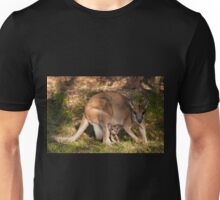 Agile Wallaby with joey, Northern Territory Unisex T-Shirt