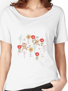 cartoon monkey  Women's Relaxed Fit T-Shirt