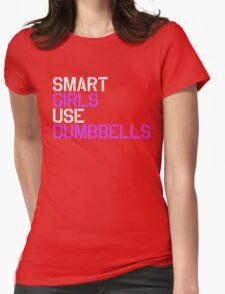 Smart Girls Use Dumbbells (wht/pnk) T-Shirt